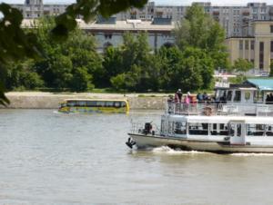 Autobus amphibie à Budapest